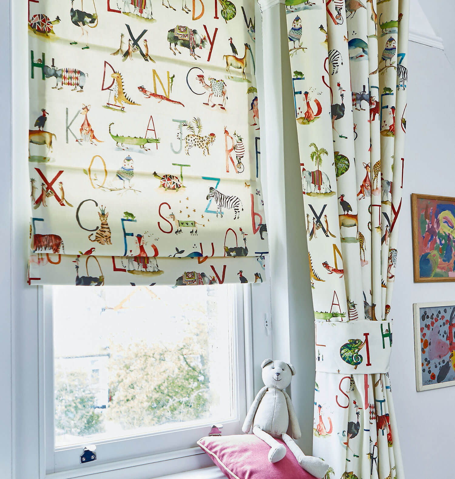 Animal Alphabet | PT Fabrics Roman Blind & Curtains