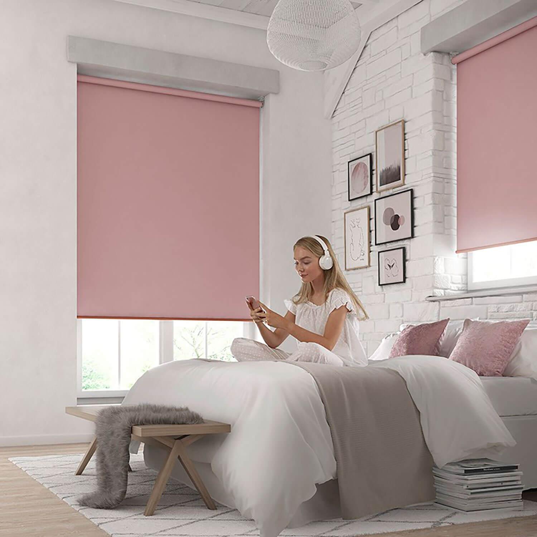 Bella Bossa Pink | Bedroom Roller Blinds