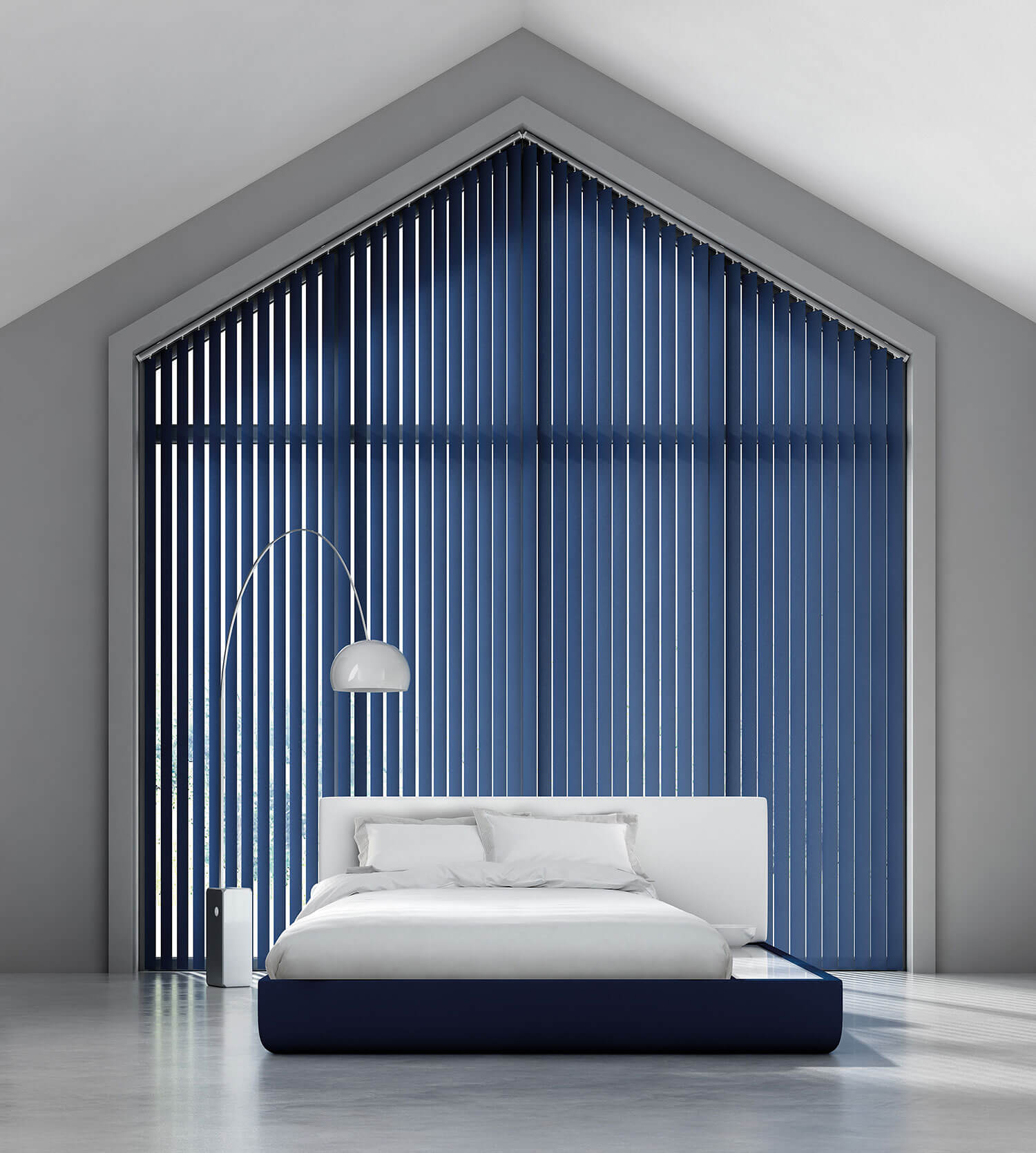 Bella Indigo | Vertical Blind