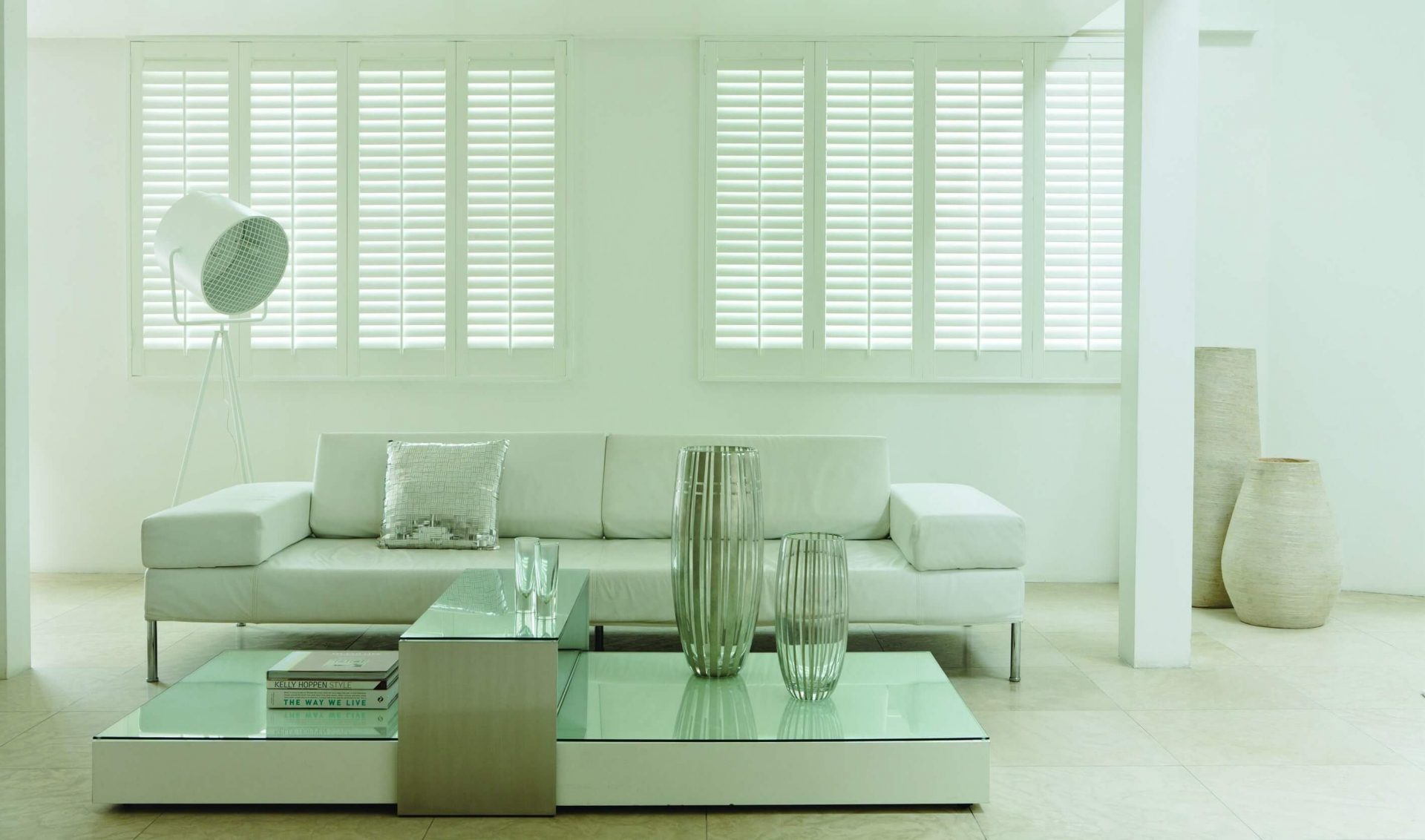 Bright White Full Height Shutters