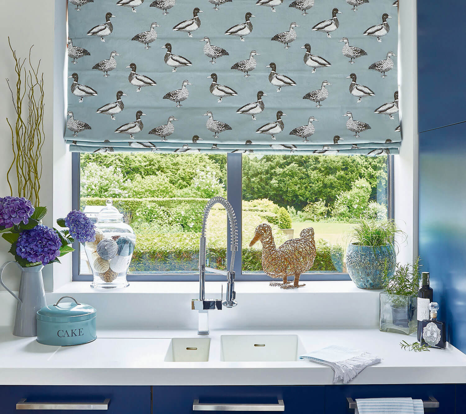 Duck Egg Shell | PT Fabrics Roman Blinds