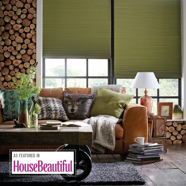 Hive Blackout Green | Pleated Blinds