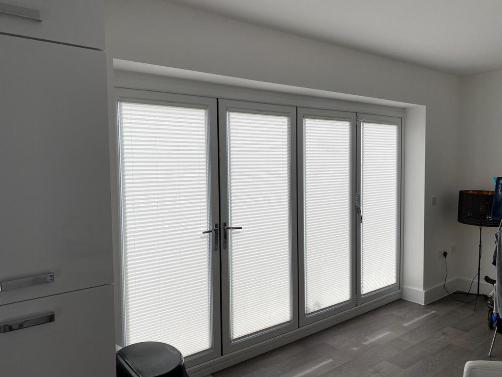 Intu micro pleated blinds