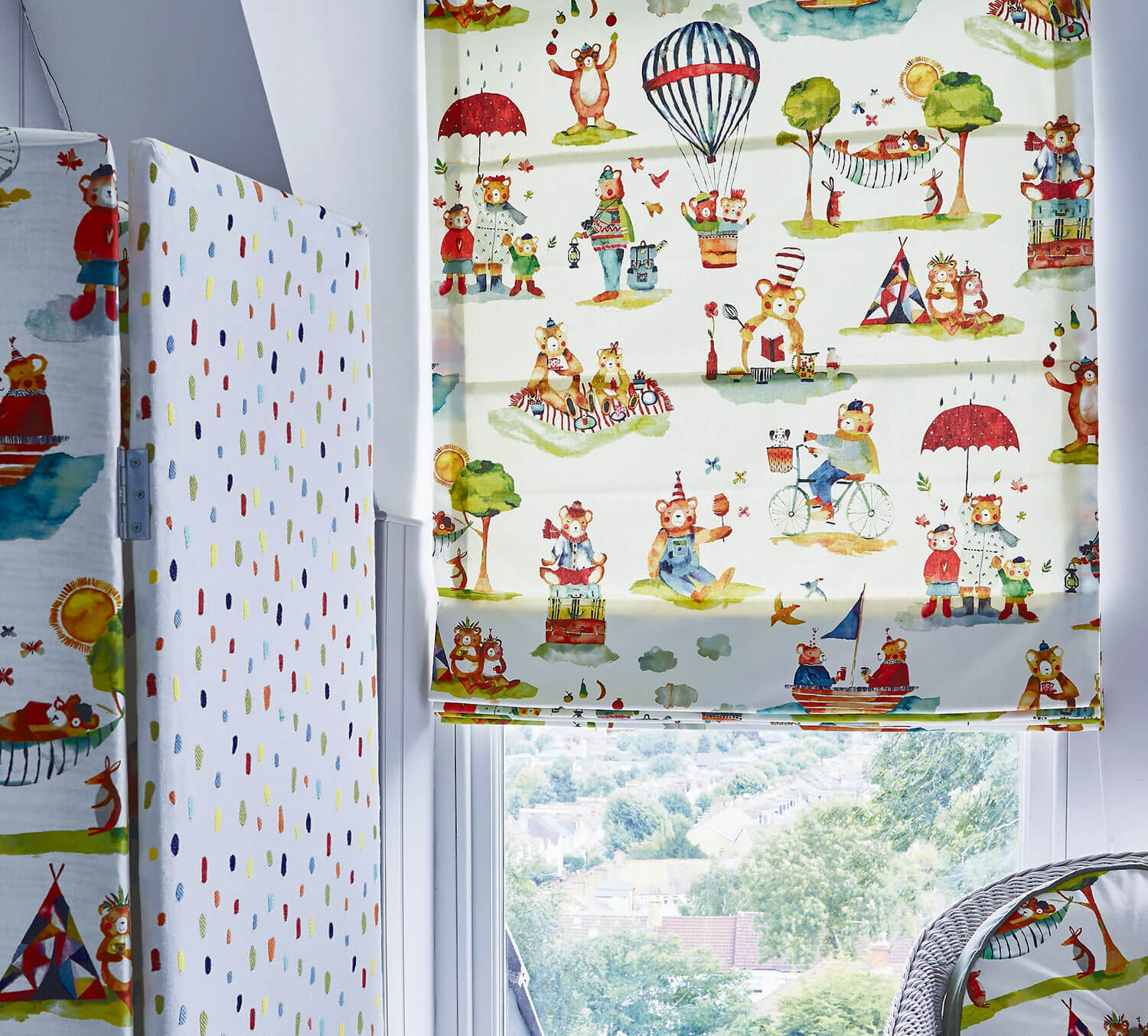 Little Bear Vintage | PT Fabrics Roman Blinds
