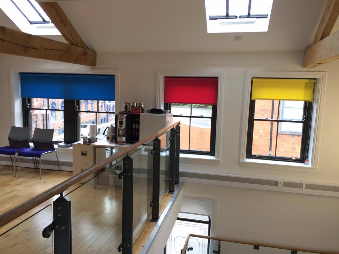 Coloured office blinds