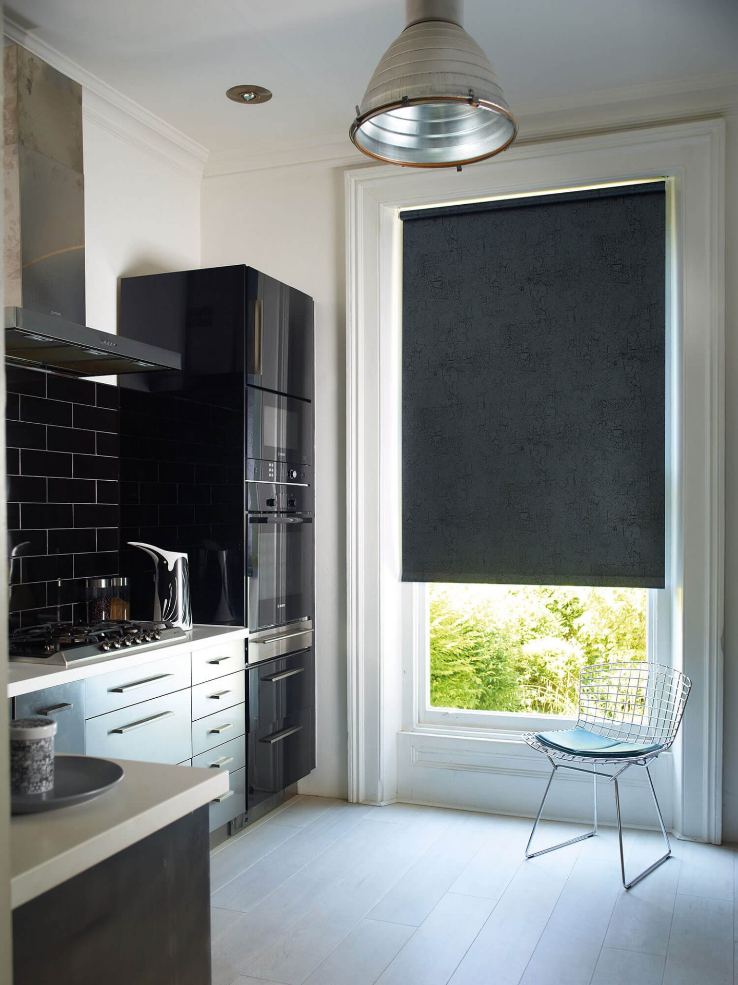 Metz Black | PVC Roller Blinds
