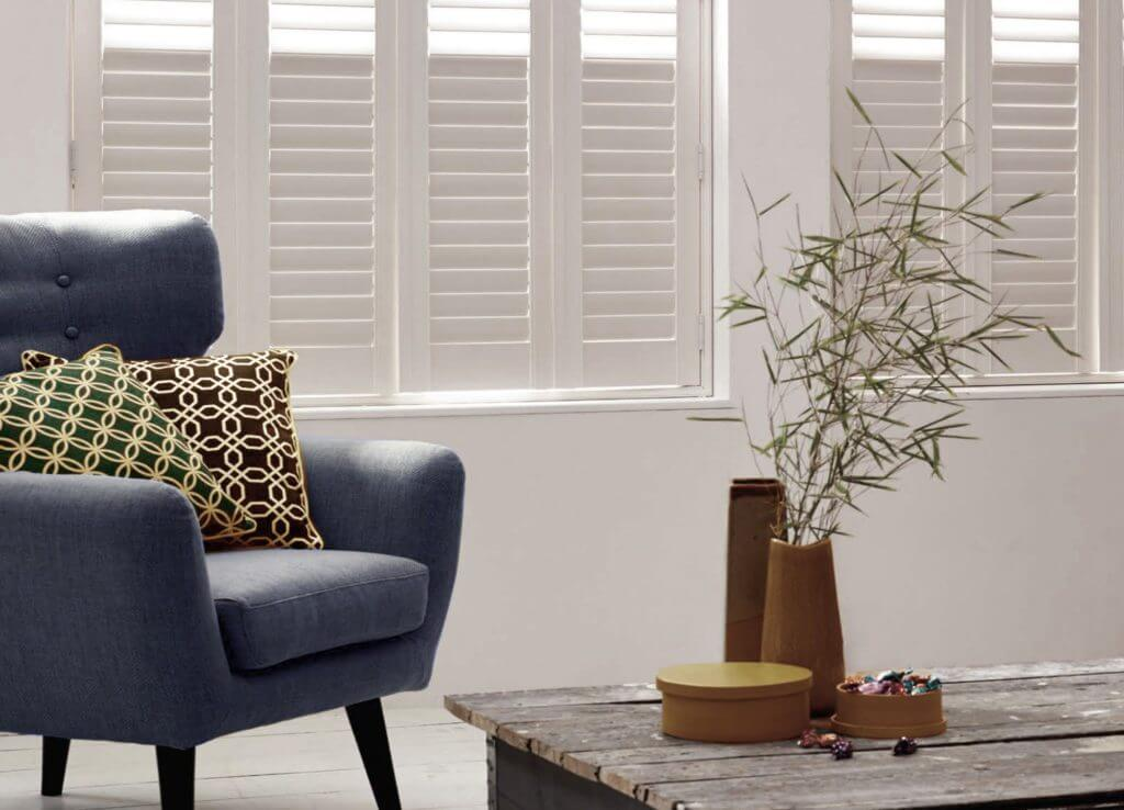 Plantation Shutters with Divider Rail