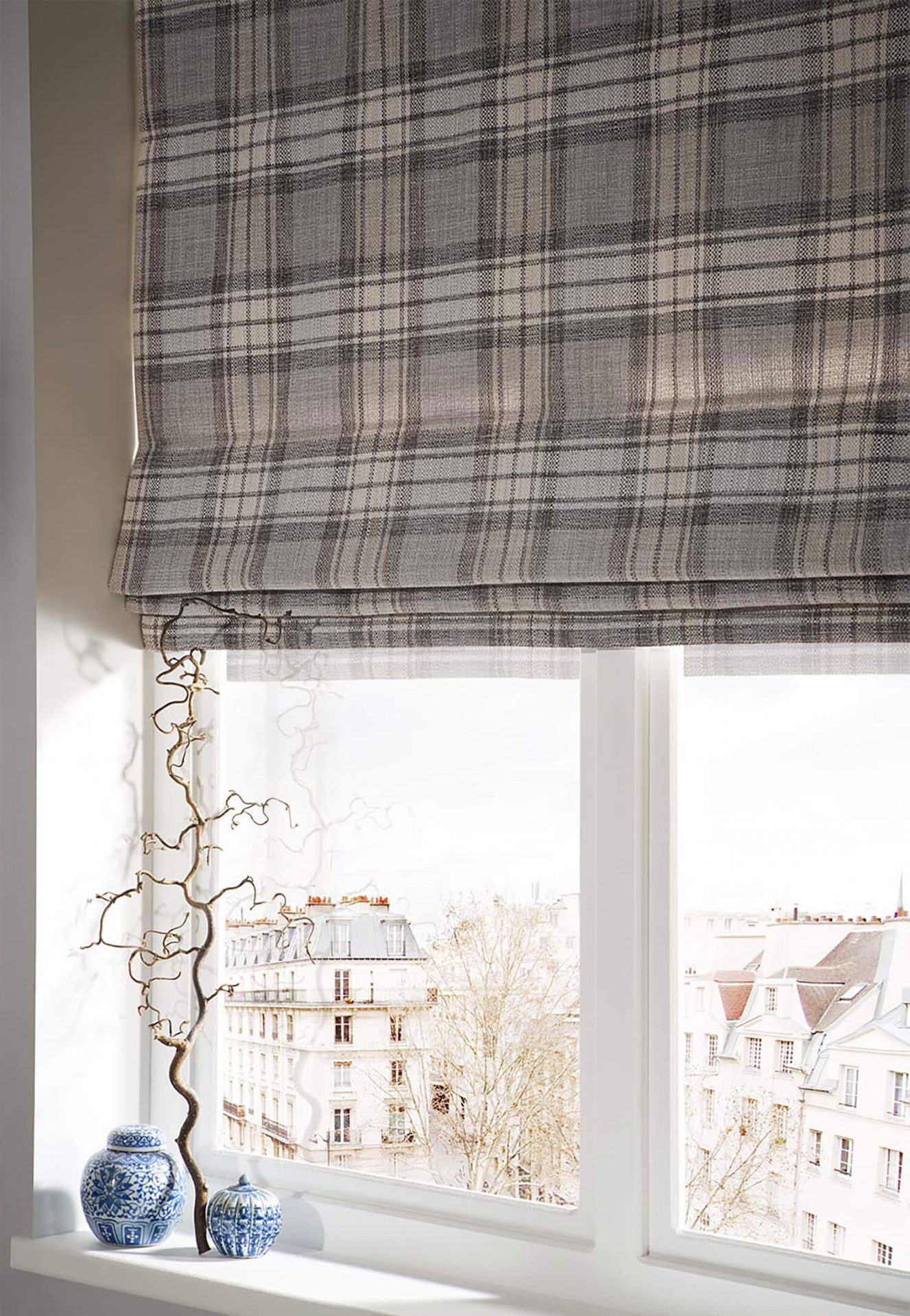 Shaker Check Feather | iLiv Roman Blinds