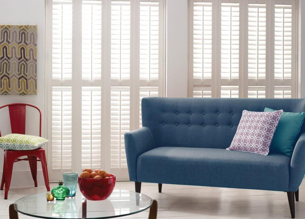 Shutters with Divider Rail