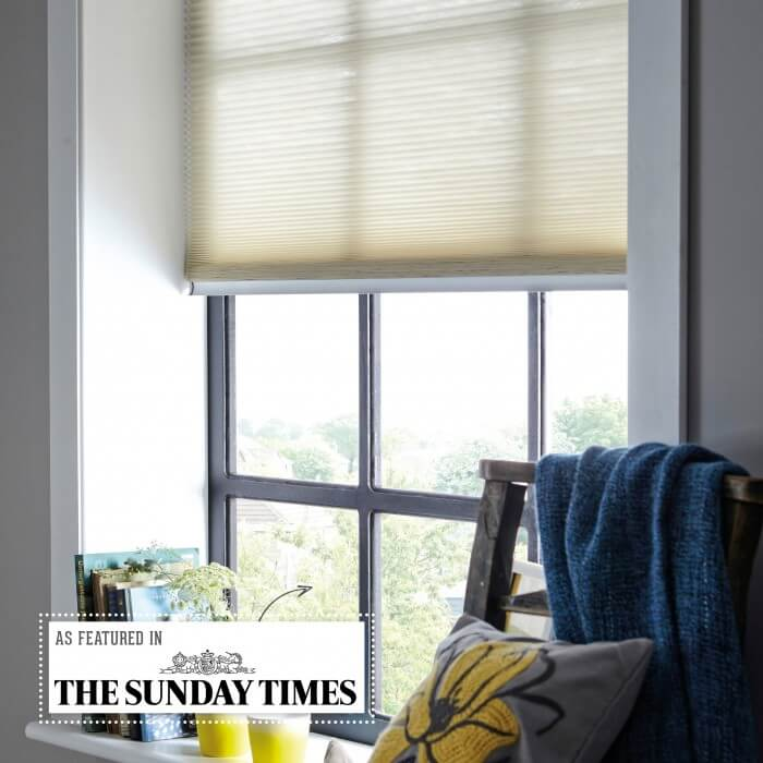 Mineral ASC Cream | Pleated Blinds