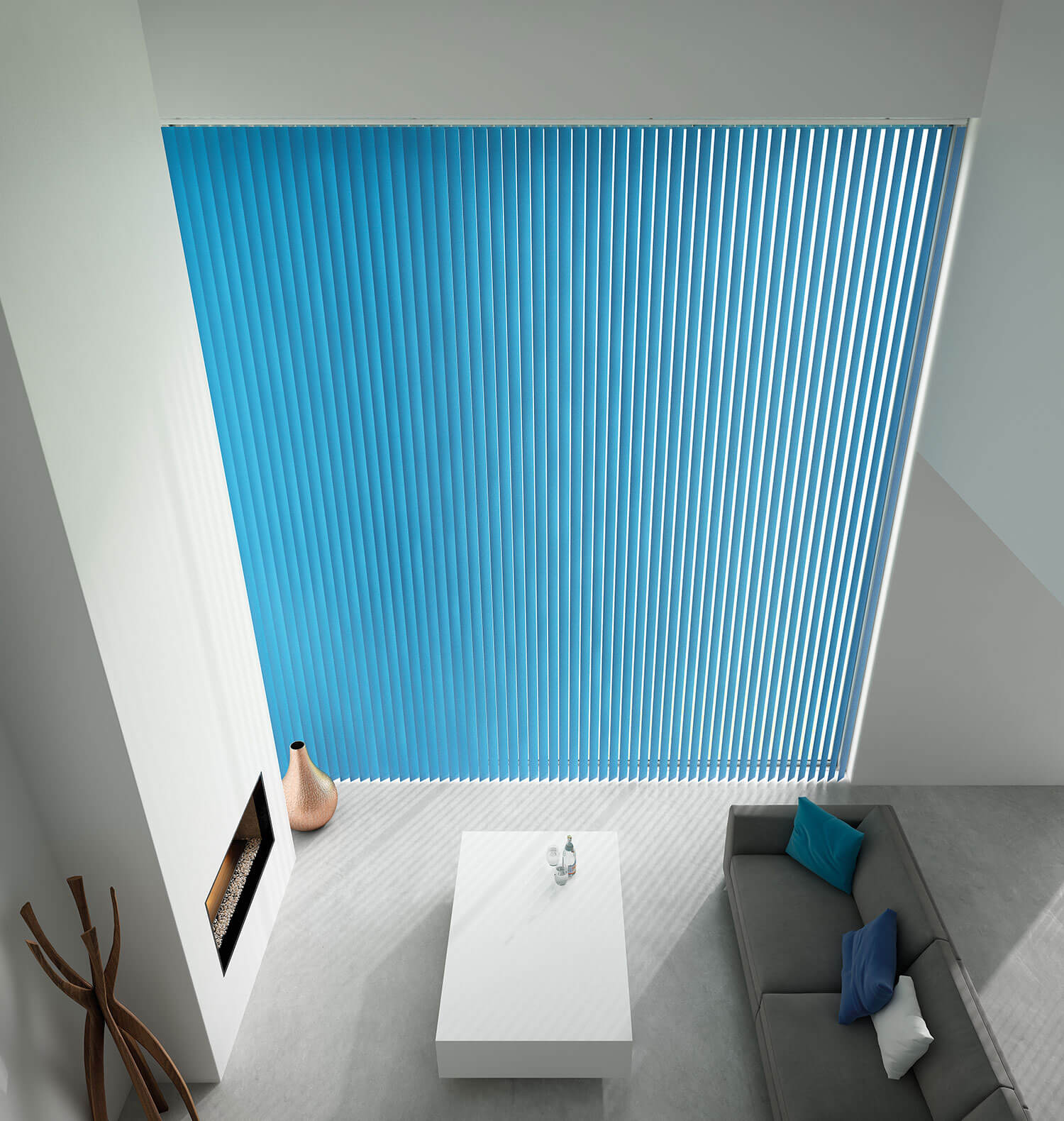 Unicolour Cyan | Vertical Blind