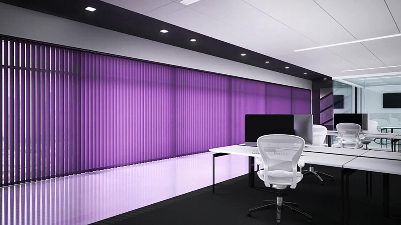 Unicolour | Purple Commercial Roller Blinds