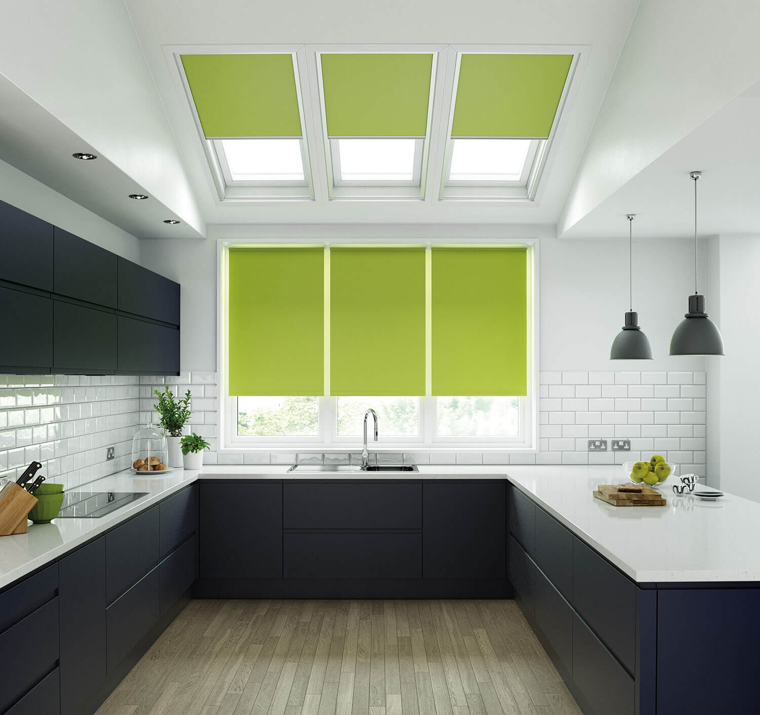 Unilux Lime | PVC Roller Blinds
