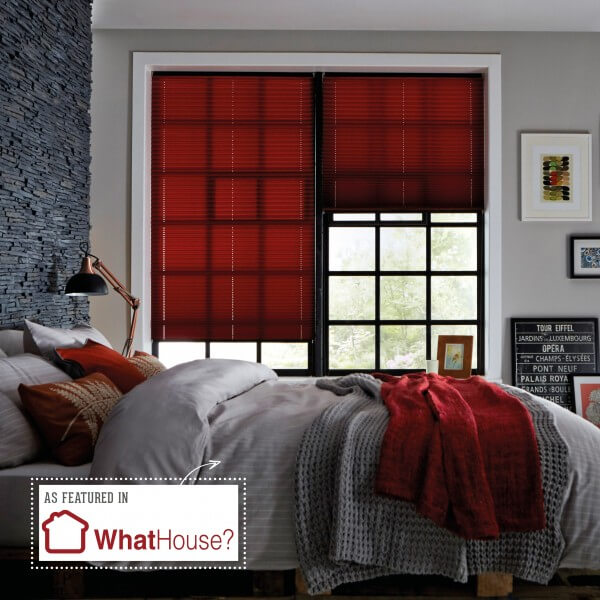 Premier Garnet Red | Pleated Blinds