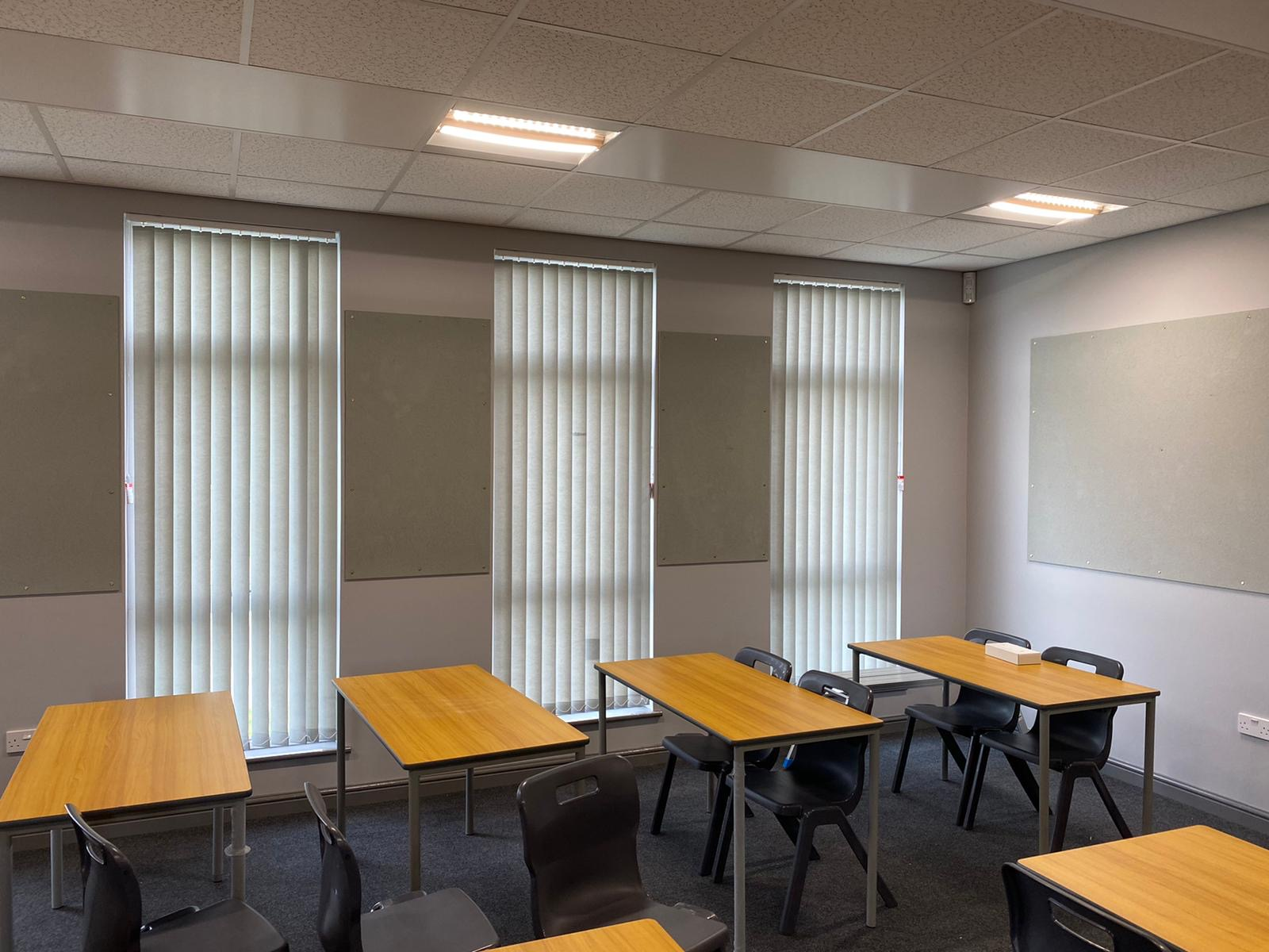 Blinds for classrooms