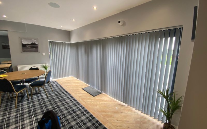Full length vertical blinds